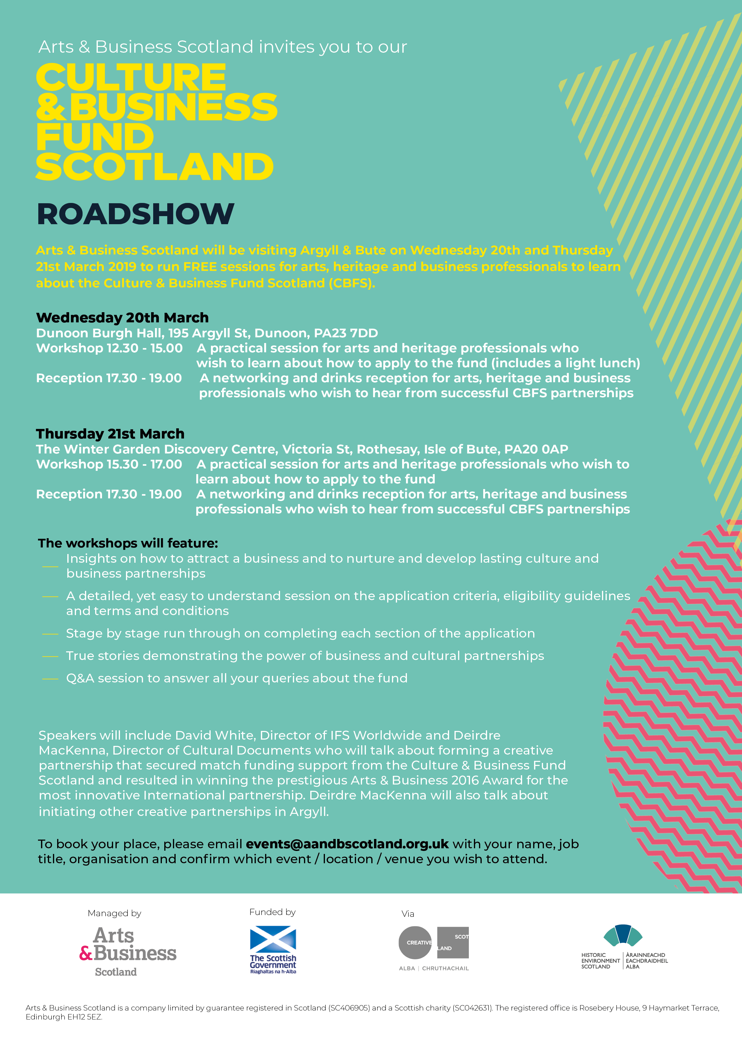 Culture & Business Fund Scotland - Rothesay & Dunoon Roadshow