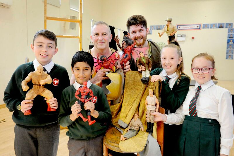 : Children from St Eunan's Primary School, West Dunbartonshire, who saw the performance at Our Holy Redeemer's Primary School with the cast of Jason and the Argonauts. Credit Colin Hattersley.