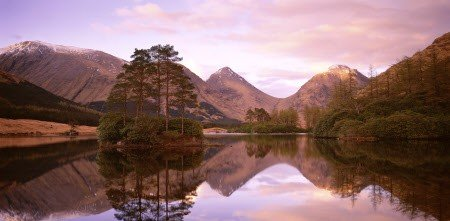 National Trust: Glen Etive at sunset, Grampian, Scotland, UK